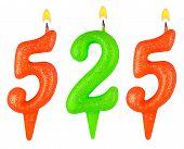 pic of 5s  - candles number five hundred twenty - JPG