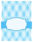 stock photo of harlequin  - Blue argyle  - JPG
