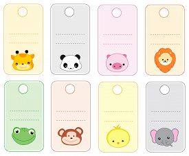 pic of cute frog  - Colorful printable gift tags  - JPG