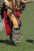 picture of american indian  - american indian doing a dance according to old time customs - JPG