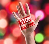 picture of stop bully  - Open hand raised with the text - JPG
