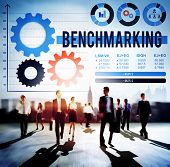 stock photo of benchmarking  - Benchmarking Development Business Efficiency Concept - JPG