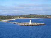 picture of lighthouse  - The Lighthouse on McNabs Island Halifax Nova Scotia Canada - JPG