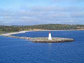 stock photo of lighthouse  - The Lighthouse on McNabs Island Halifax Nova Scotia Canada - JPG