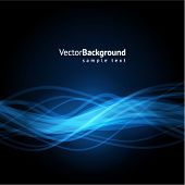picture of waveform  - Blue waveform vector background - JPG