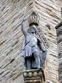 stock photo of william wallace  - picture of the statue of sir william wallace the scotland hero