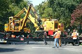 stock photo of road construction  - Road Construction Crew - JPG