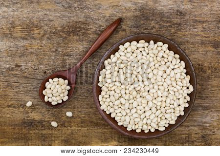 White pea beans also called