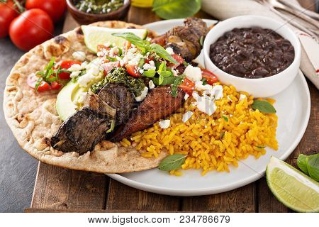 Beef Kebab On A Flatbread