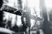 Crucifixion Of Jesus Christ: Cross With Thorns (faith, Religion, Death, Resurrection, Theology Conce poster