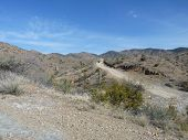 pic of superstition mountains  - ATV trail in the desert near the Superstition Mountains of Arizona - JPG
