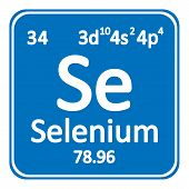 Periodic Table Element Selenium Icon On White Background. Vector Illustration. poster