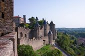 Walls of Carcassonne medieval castle