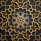 Set Of Islamic Oriental Patterns, Seamless Arabic Geometric Ornament Collection. Vector Traditional  poster