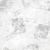 Old Grunge Newspaper Collage Paper Texture Seamless Pattern Background. Blurred Vintage Newspaper Ba poster