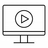Video Tutorials Vector Icon . Study And Learning Background, Distance Education And Knowledge Growth poster