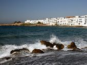 View Of The Town Of Naoussa On The Island Of Paros, Greece poster