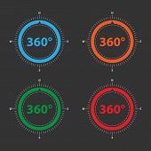 Color Compass For Geolocation Applications. Vector Compass Icons. poster