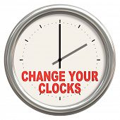 picture of daylight saving time  - An image of a nice clock with  - JPG