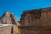 Ruins Of Uxmal, An Ancient Maya City Of The Classical Period. One Of The Most Important Archaeologic poster