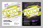 Vector Layout Design Template For Running Event Or Other Sport Event. poster