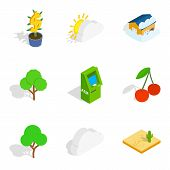 Critical Vital Icons Set. Isometric Set Of 9 Critical Vital Vector Icons For Web Isolated On White B poster