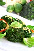 Lightly Cooked Broccoli Pieces With A Touch Of Butter poster