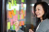 Successful Team Leader Managing Configuring Workflow On Kanban Board. poster