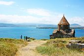 image of apostolic  - The 9th century Armenian monastery of Sevanavank at lake Sevan - JPG