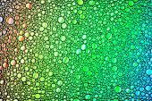 Colorful Drops Of Oil On The Water. Circles And Ovals. Abstract Bright Background For Design. poster
