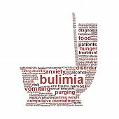 stock photo of bulimic  - Bulimia Nervosa symbol isolated on white background - JPG