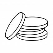 Isolated Object Of Coin And Coins Icon. Graphic Of Coin And Judaism Stock Symbol For Web. poster