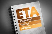 Eta - Estimated Time Of Arrival Acronym, Business Concept Background poster