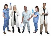 stock photo of phlebotomy  - Group of medical doctors with various specialties - JPG