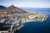 Aerial View Of Cape Town With V&a Waterfront, Cape Town Stadium poster