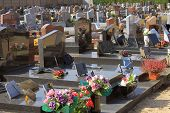picture of burial-vault  - for burial vaults and graves in a cemetery - JPG