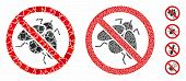 No Fly Insect Mosaic Of Humpy Parts In Various Sizes And Color Tones, Based On No Fly Insect Icon. V poster