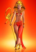image of pharaohs  - This is a striking pose of an Egyptian queen who anointed herself a Pharaoh - JPG