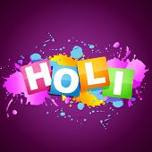 vector holi festival background design