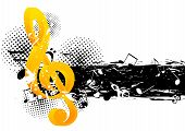 pic of g-spot  - Grunge music background with g - JPG