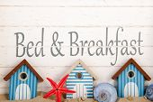 stock photo of bed breakfast  - Bed and breakfast at the coast - JPG