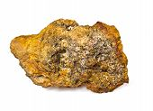 pic of hematite  - Laterite on a white background - JPG