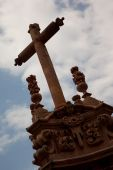 foto of taxco  - Cross in a church in Taxco Mexico - JPG
