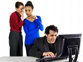 foto of indecent  - business people in office situations - JPG
