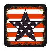 picture of civil war flags  - American flag styled grunge icon isolated on white background - JPG