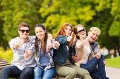 stock photo of classmates  - summer holidays - JPG