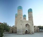 Chor Minor madrassah in the city of Bukhara, Uzbekistan