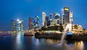 Singapore skyline and cityscape. Popular tourist travel destination poster