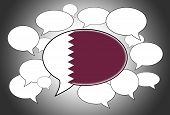 foto of qatar  - Communication concept  - JPG