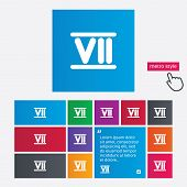 stock photo of roman numerals  - Roman numeral seven sign icon - JPG